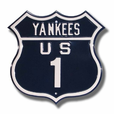 Yankees / 1 Route Sign