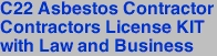 C22 Asbestos Contractor<br>Contractors License KIT<br>with Law and Business