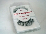 Extra long and wispy black false eyelashes
