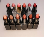 Mineral Based Lipsticks From First Row Left to Right