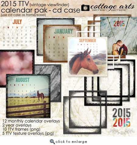 2015 CD Case Calendar - TTV