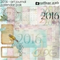 2016 Art Journal Calendar Pak