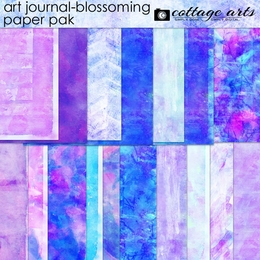 Art Journal - Blossoming Paper Pak