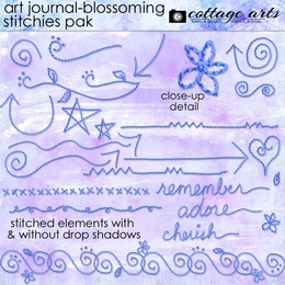 Art Journal - Blossoming Stitchies Pak