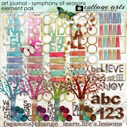 Art Journal - Symphony of Seasons Element Pak