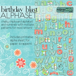 Birthday Blast AlphaSet