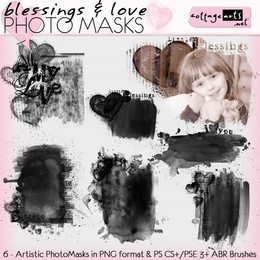 Blessings & Love Photo Masks