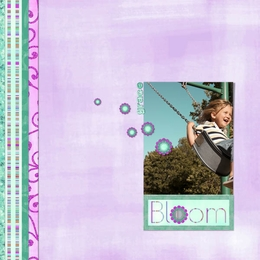 Bloom 12x12 ScrapOver Template w/Separate Title