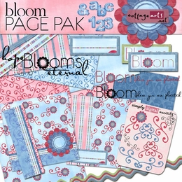 Bloom Page Pak w/AlphaSet & 2 Quick Pages