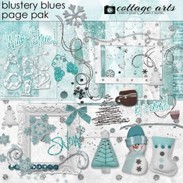 Blustery Blues Page Pak w/AlphaSet
