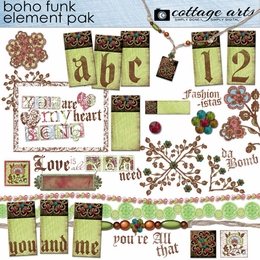Boho Funk Element Pak w/AlphaSet