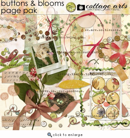 Buttons & Blooms Page Pak
