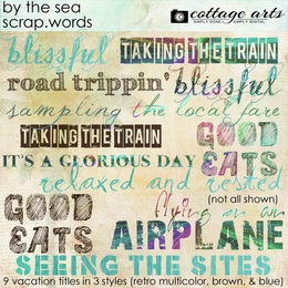 By the Sea Scrap.Words