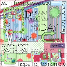 Candy Shop Page Pak w/AlphaSet & 3 Quick Pages