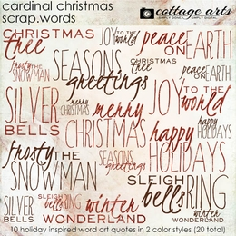 Cardinal Christmas Scrap.Words