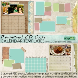 CD Case Perpetual Calendar Templates