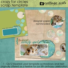 Crazy for Circles Scrap Template