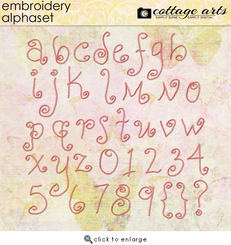 Embroidery AlphaSet