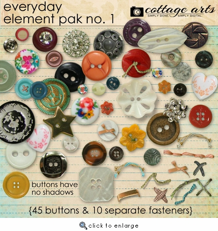 Everyday Element Pak 1 - Buttons