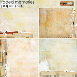 Faded Memories Paper Pak