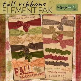 Fall Ribbons Element Pak