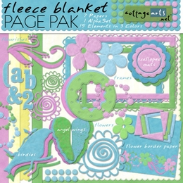 Fleece Blanket Page Pak w/AlphaSet