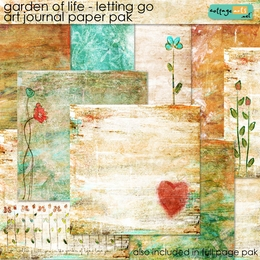 Garden of Life - Letting Go Art Journal Paper Pak