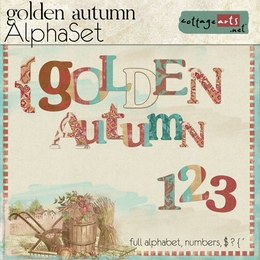 Golden Autumn AlphaSet