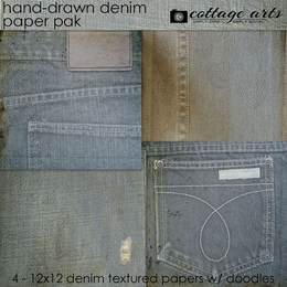 Hand-drawn Denim Paper Pak