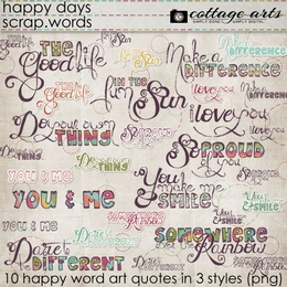 Happy Days Scrap.Words