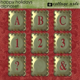 Happy Holidays AlphaSet