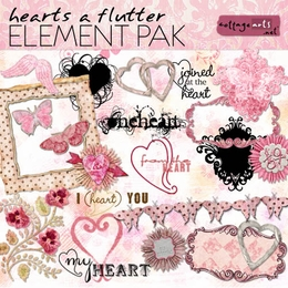 Hearts a Flutter Element Pak