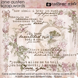 Jane Austen Scrap.Words