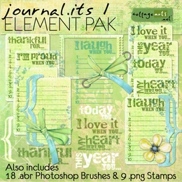 Journal.Its 1 Element Pak & Brushes