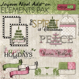 Joyeux Noel Add-On Element Pak