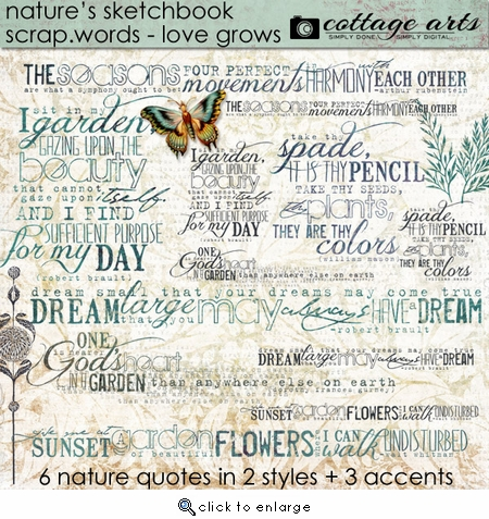Love Grows Scrap.Words