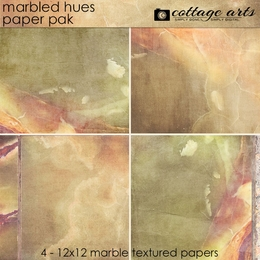 Marbled Hues Paper Pak