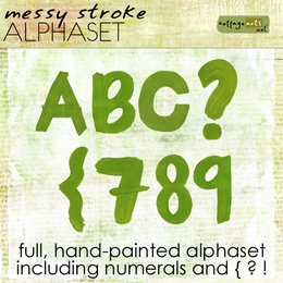 Messy Stroke AlphaSet