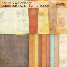 Nature's Sketchbook 6 Paper Pak - Flight of Fancy