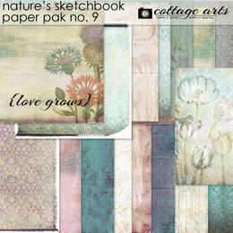 Nature's Sketchbook 9 Paper Pak