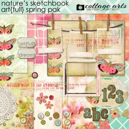 Nature's Sketchbook - Art{full} Spring Page Pak
