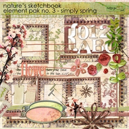 Nature's Sketchbook Element Pak 3 - Simply Spring