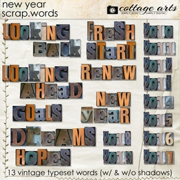 New Year Scrap.Words