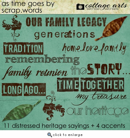 As Time Goes By Scrap.Words
