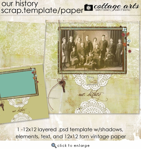 Our History Scrap Template