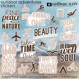 Outdoor Adventures Stickers