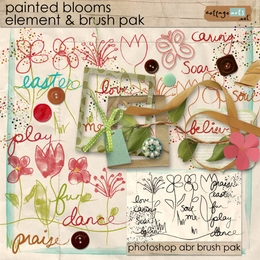 Painted Blooms Element Pak w/Brushes