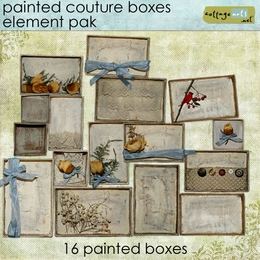 Painted Couture Boxes
