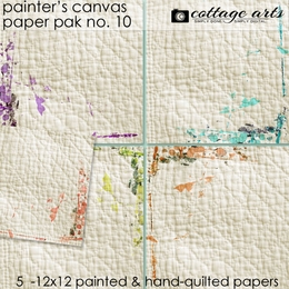Painter's Canvas 10 Paper Pak