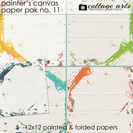 Painter's Canvas 11 Paper Pak